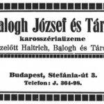 Balogh József és Tsa