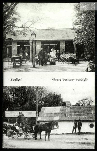 A főnézőtér a Szarvas fogadó közelében volt. Forrás: http://postcards.hungaricana.hu/hu/185492/
