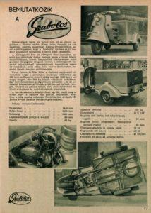 Autó-Motor, 1961 április: Bemutatkozik a Szabolcs